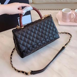 del sacchetto di cuoio genuino di spalla della borsa delle donne portatile Flap Bag Classic Caviar Materiale Hardware Fibbia Diamante Lattice delle donne della borsa