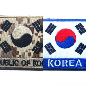 Tai laço figura bandeira gancho pano braçadeira chi-coreano e National flag bordados remendo bordados remendo PVOpB
