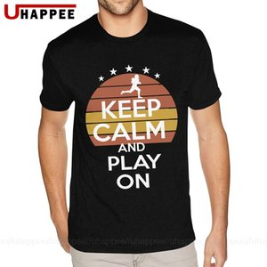 Mantenha a calma aniversário And Play Camisetas 4xl Manga Curta Branco tripulação de Futebol Americano Tees a camisa dos homens