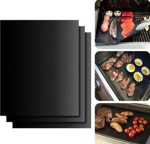 Antiaderente BBQ Grill Mat Teflon Cozinhar Folha grelhar piquenique preto assado reutilizável Não Vara BBQ Grill Mat de Resistência ao Calor Cozinha Ferramenta DHE773