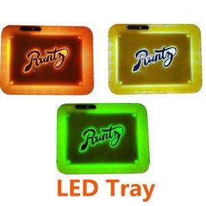 Runtz LED Glow Tray Сменные лампы Цвет Runtz Glowtray Аккумуляторные Светящиеся огни для табака хранения с Box 3 стиля логотипа