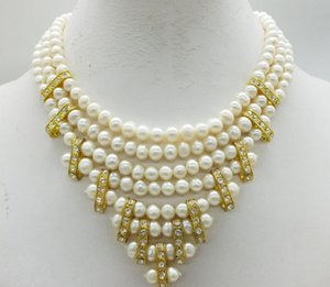 The most exquisite, bridal necklace, natural white pearl00