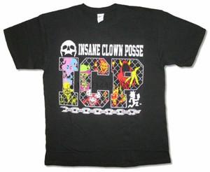 مجنون بوسي المهرج سلسلة ربط أسود t قميص ICP الرسمية الجديدة