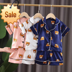 AG-007-1 Kids Pajamas Set Toddler Sleepwear New Summer Pijamas For Boys Clothes Baby Girls Pajamas Suit Boys Pyjamas Childre