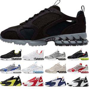 Nike Air Zoom Spiridon caged slayt erkekler kadınlar tasarımcı terlik sandalet Kemik Çölde Kum Reçine üçlü siyah beyaz slaytlar sahil oteli sandalet womens