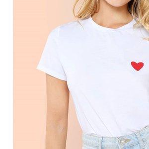 2020 Valentine T-shirt de cru T-shirts LOVE vetements femme couple tees graphique femmes tees été print streetwear