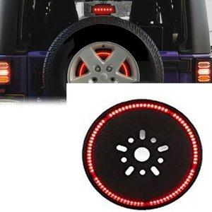 2020 2020 랭글러 JL JLU 예비 타이어 브레이크 라이트 LED 3 번째 브레이크 라이트 휠 테일 리어