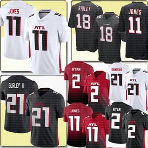 11 Julio Jones de AtlantaFalcon 21 Todd Gurley II Jersey 2 Matt Ryan Ridley 18 24 Devonta Freeman 21 Deion Sanders fútbol jerseys