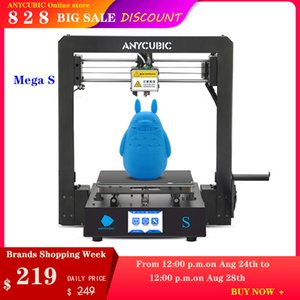 ANYCUBIC ميجا S 3D شاشة الطابعة التي تعمل باللمس FDM Anycubic I3 ميجا ترقية كبيرة الحجم DIY 3D طباعة عدة Impressora مع الطارد