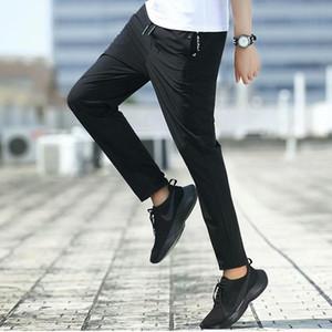 New casuais calças dos homens Moda Streetwear rápida seco respirável Sweatpants Masculino Calças Hip Hop Micro força elástica calças dos homens