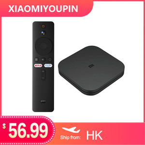 Xiaomi Mi TV Box S 4 Android 8,1 4K HD QuadCore Смарт Bluetooth 2GB 8GB HDMI WiFi Set UP Boxs Media Player