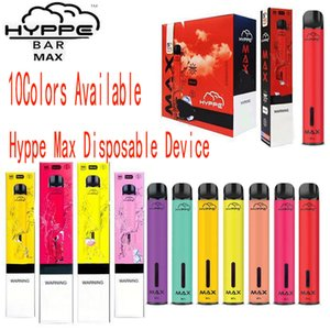 Nouveau Hyppe Max dispositif à usage unique 1500 Puffs 5ML pré-rempli Vape pods batterie 650mAh aviliable bouffée xxl bar, plus hyppe