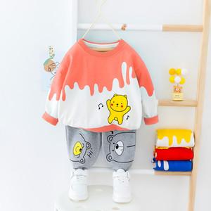 Mode Vêtements pour bébé garçons Set Cartoon T-shirt mignon + costume 2020 Printemps 2 PCS Enfant Automne Costume Vêtements pour enfants O-cou