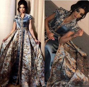 Elegant Evening Dresses Middle East Dubai Abaya Kaftan Kleider Formal 2020 Prom Gowns Party Dress Evening Wear robe de soiree