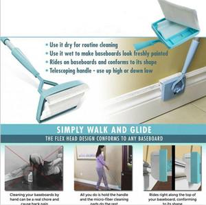 Kreative Folding Heizleiste Buddy einfach Glide And Dust Ausziehbare Mikrofaser-Reinigungsmittel Wäscht Reinigungsbürsten