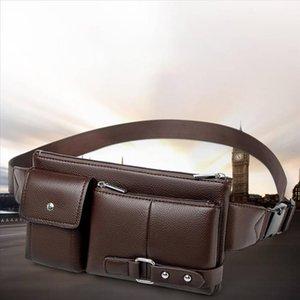 Xiniu cintura Packs função Peito Bag For Men multi bolsas de couro Vintage Outdoor Sports Leisure Mensageiro Peito Bolsas Man