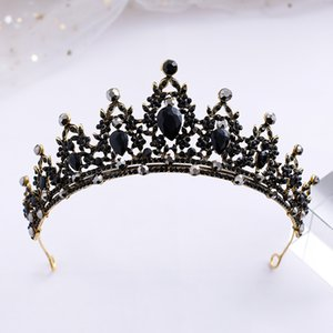 Black Wedding Tiara for Women, Bridal Crown Princess Tiara Headband, Costume Party Accessories for Prom Halloween Pageant