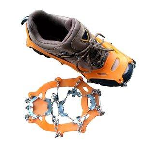 19 Dişler Kramp Kış Açık Dağcılık Kramponlar Ayakkabı Gripperler Paslanmaz Çelik Zincir Kramponlar Anti-skid Ayakkabı Anti-skid
