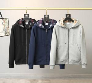 20fw Нового прибытия Paris Men Дизайнер Ветровка пальто пуховик с капюшоном Джемпер проложенного свитер Winter Zip Up BBR Куртки мужских