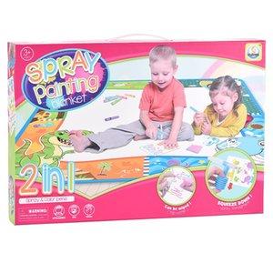 Kid Игрушка Раннее Обучение Игрушка 2 в 1 напыление Одеяло для детей Ткань обучение Обучение для детей
