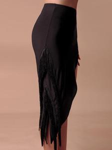 ZYMdancestyle On The Move Fringes Skirt ZYM2041 Women Latin Dance Practice Wear Fringes Split Dress