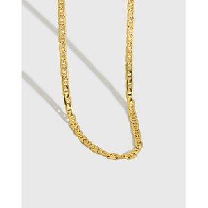 خواتم العنقودية Shanice 100٪ S925 فضة سلسلة على الرقبة فاسق مجوهرات ins البرية شقة خنزير الأنف المختنق قلادة المرأة باردة