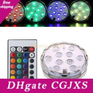 Light Kit 5050 SMD 10 LED sommergibili, sommerse Flower Design, Creazione di decorazioni multicolori Effetto della luce di nozze festa di compleanno