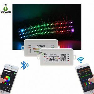 LED 스트립 라이트 컨트롤러 SP105E SP108E 와이파이 블루투스 4.0 지원 IOS / 안드로이드 APP WS2811 2812 2801 6803 IC LED 스트립 픽셀 제어 sOGi 번호
