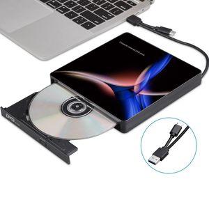USB-C External Optical Drive USB 3.0 Type-C CD DVD Player DVD Burner for PC Laptop Windows