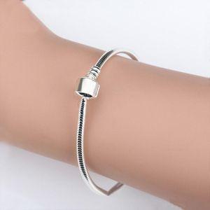 new stainless steel Bracelets Snake Pa dora Chain Charm Bead Bangle Bracelet DIY Jewelry Gift For Women zx002