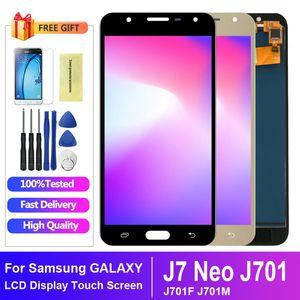 100% geprüft Für Samsung J7 NEO J701 LCD Digitizer Assembly Ersatz für Samsung J701F LCD-Display