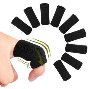 10pcs soutien doigt Stretchable doux Sport Finger Sleeves Arthritis Garde Basketball extérieur Protection Volley-ball