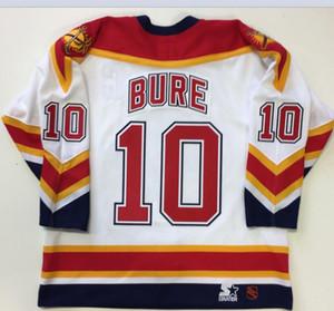 las mujeres de Hombres jóvenes Vintage # 10 Pavel Bure panteras de Florida 1999 CCM Hockey Jersey del tamaño S-5XL o costumbre cualquier nombre o un número
