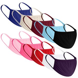 Cotton masks for both men and women black and white double-layer breathable masks sunscreen and dust masks A2132