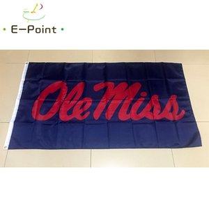 Flagge von NCAA Ole Miss Rebels Polyester Flag 3 ft * 5 Fuß (150cm * 90cm) Flagge Banner Dekoration nach Hause fliegen Garten im Freien Geschenke