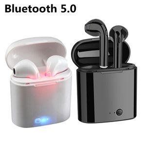 سماعات بلوتوث I7 I7S TWS التوائم سماعات الأذن البسيطة سماعة سماعات لاسلكية مع هيئة التصنيع العسكري V5.0 ستيريو للهاتف أندرويد مع صندوق البيع بالتجزئة
