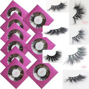 3D Mink Eyelashes Eye Makeup Mink Hair False Lashes Soft Natural Thick Eyelashes Eye Lashes With Round Box Extension Beauty 44