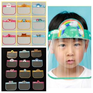 Quente Facial Transparente Escudo Criança Rosto Completo Dos Desenhos Animados Anti Splash Visor Clear Escudo Facial Máscara T2I51391