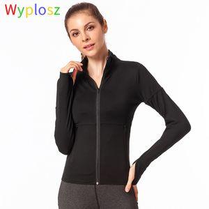 Wyplosz Йога куртка Запуск Winter Track Jacket Women Gym Спортивная Фитнес ветровку Бег Спортивная одежда Ladies
