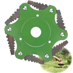6 스틸 면도기 브러시 커터 헤드 농업을 사용하여 야외 잔디 트리머 봄 망간 강철 받침대가 튼튼 잔디 깎는 기계 6,500 업데이트