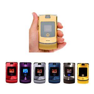 CAMERA Original flip Motorola RAZR V3i GSM Bluetooth do telefone celular Remodelado Celular