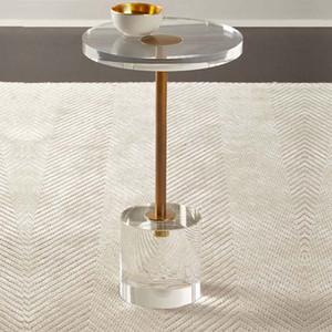 table d'appoint ronde acrylique End Table ronde Salon Chambre transparent Table basse