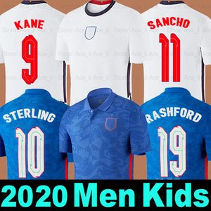 Camiseta de fútbol England Inglaterra 2020 2021 soccer jersey local visitante equipo nacional KANE STERLING RASHFORD SANCHO DELE LINGARD Men + Kids kit set uniforme camiseta