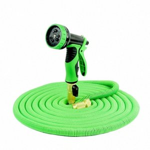 25-100ft Green Flexible Garden Hoses Expandable Magic Hose To Watering With Spray Gun Garden Car Water Pipe Hoses Watering KdcE#