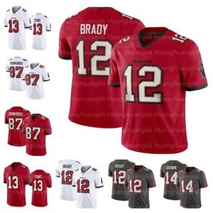 Mens 12 Tom Brady Jersey TampaBaíabucaneiro87 Rob Gronkowski 14 Chris Godwin 45 Devin Branca 13 Mike Evans crianças mulheres jovens
