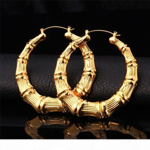 Hot Item Livraison gratuite 18K réel plaqué or bambou grains Boucles d'oreilles Bijoux cadeau en gros pour les femmes YE664