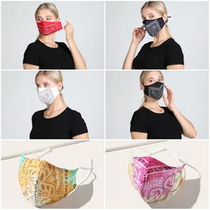 الغبار القماش قابل للغسل الوجه قناع Mascarilla قابلة لإعادة الاستخدام التنفس الأزياء الكاجو نوع V الطباعة الربيع والصيف الرجال النساء 4 5wh D2
