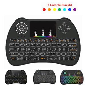 H9 Mini Klavye Arkadan aydınlatmalı 2.4GHz kablosuz oyun klavyesi Arka Işık Dokunmatik ile TV Box / Android MİNİ PC Tablet için Dokunmatik Hava Fare
