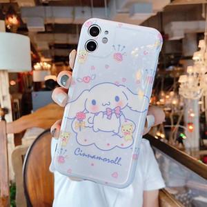 elma iphone 7 8 x XS XR MAX 11 Pro Plus Parlak Sevimli tavşan kapak Çapa için szbobo Karikatür Cinnamoroll My Melody Yumuşak Silikon telefon Kılıf