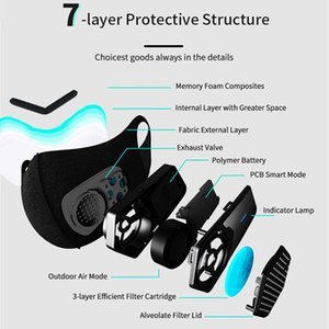 Anti-Verschmutzung Staubdichtes Mikrofaser-Material Maske Smart-Ventilator-Maske Anti-Pollution Pollen Allergie Breathable Gesicht Schutzhülle